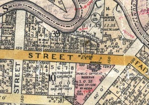 Map of Templeton Street between Baker & Ovens Streets.