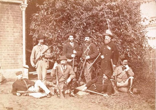 Wangarattta police contingent Kelly gang capture by Barnes 1880