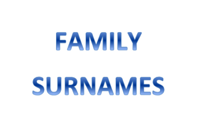 My Family Surnames